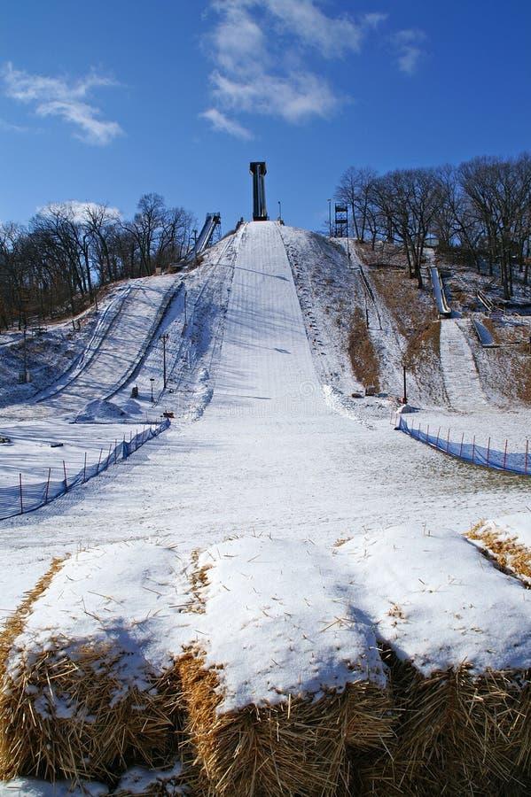 Saut de ski photographie stock libre de droits