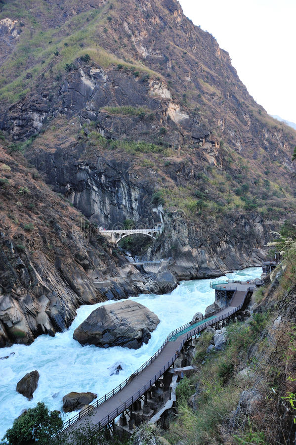 Saut de Tiger Canyon photo stock