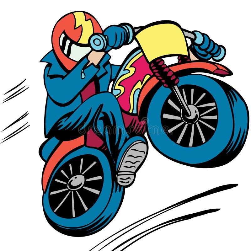 Saut de vélo de saleté illustration de vecteur