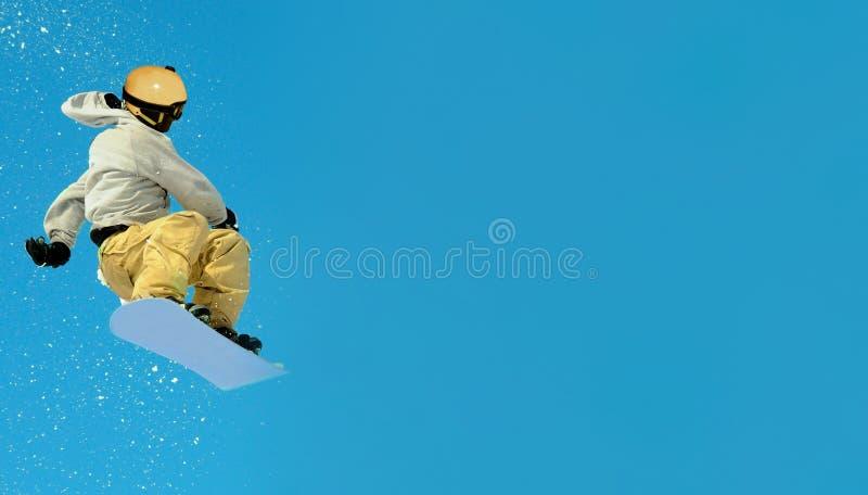 Saut extr?me de Snowboarder photo libre de droits