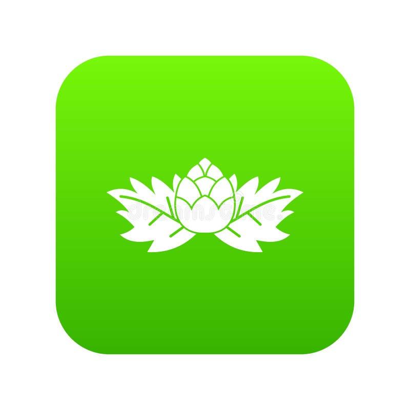 Saute à cloche-pied le vert numérique d'icône illustration libre de droits