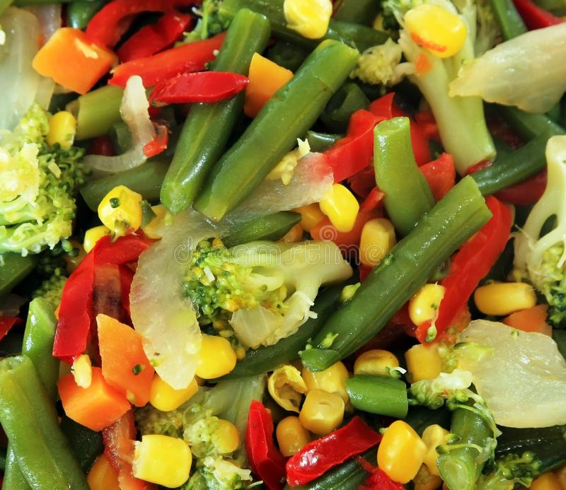 saute овощ стоковая фотография