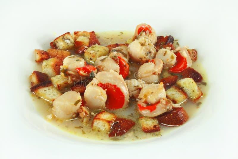 Download Saute scallops stock photo. Image of sauteed, food, garlic - 22981808