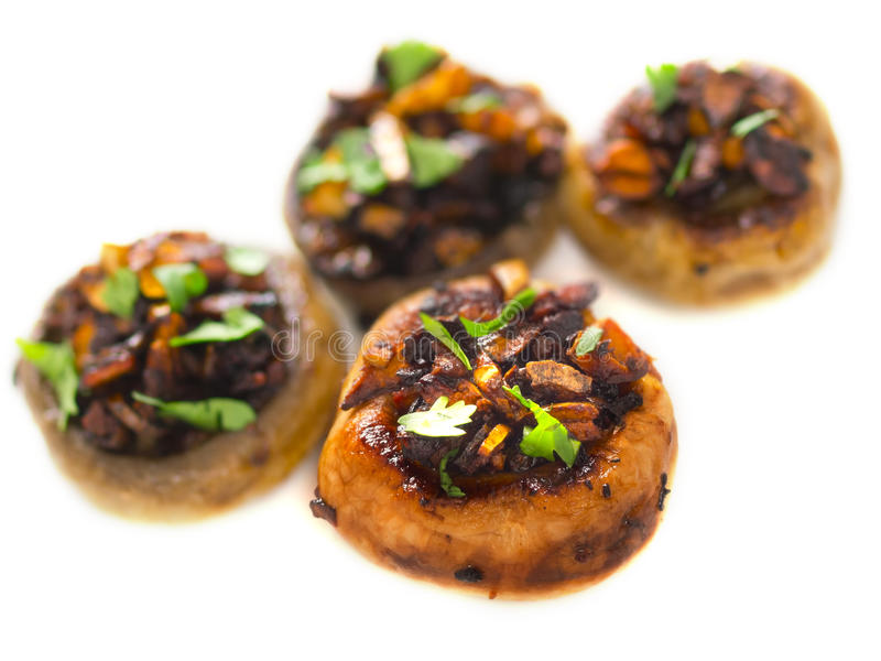 Download Sauteed button mushrooms stock image. Image of stuffed - 24549947