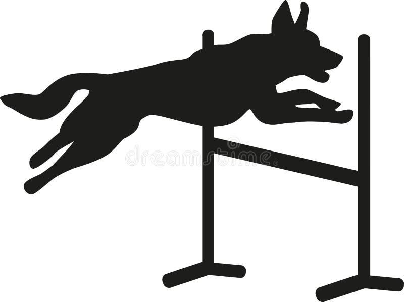 Sauter d'agilité de chien illustration libre de droits