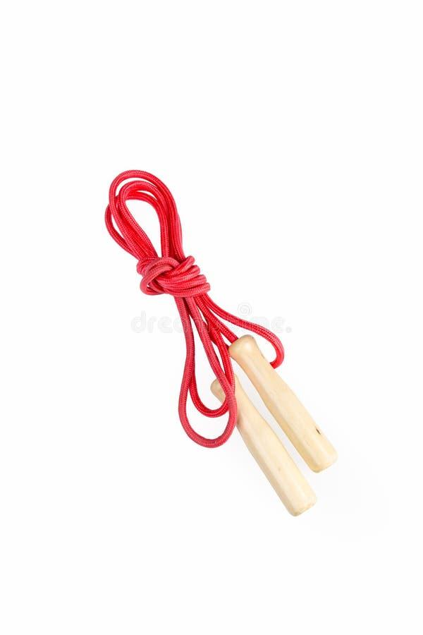 Sauter de corde rouge image libre de droits