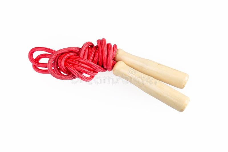 Sauter de corde rouge d'isolement images stock