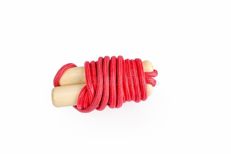 Sauter de corde rouge d'isolement photographie stock