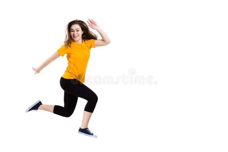 Sauter de jeune fille photo libre de droits