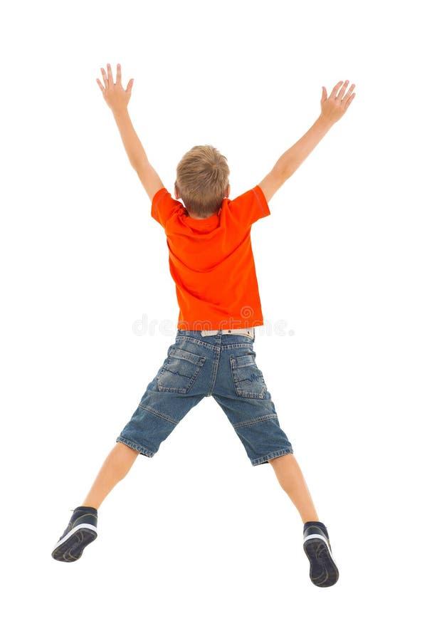 Sauter de petit garçon photos libres de droits