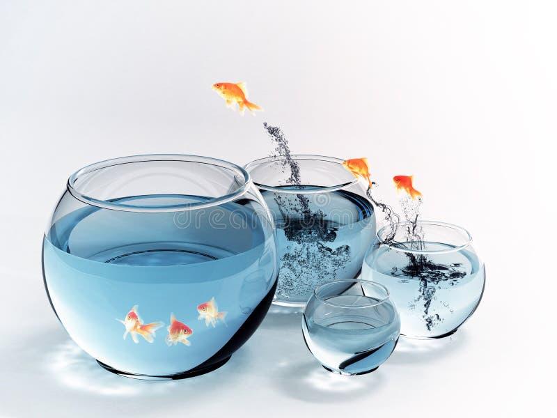 Sauter de poissons images libres de droits
