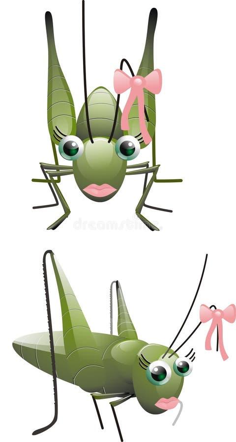 Sauterelle f illustration de vecteur