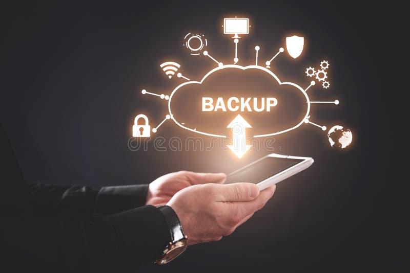 Sauvegarde de données Téléchargement de cloud Internet, technologie photo stock