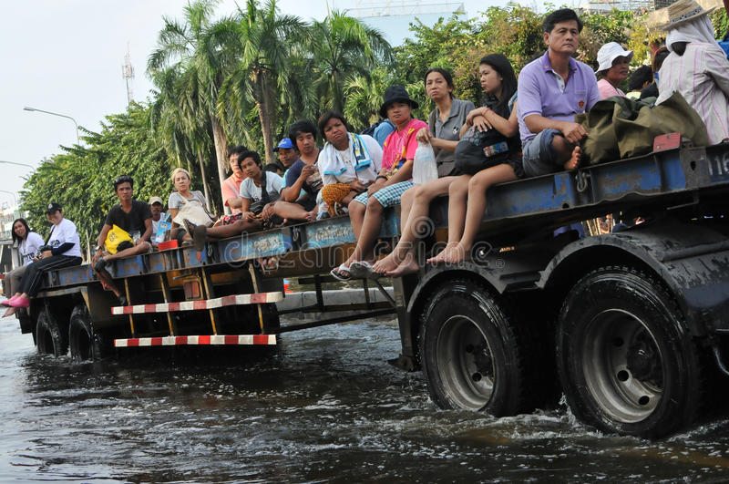 Sauvetage d'inondation photo stock