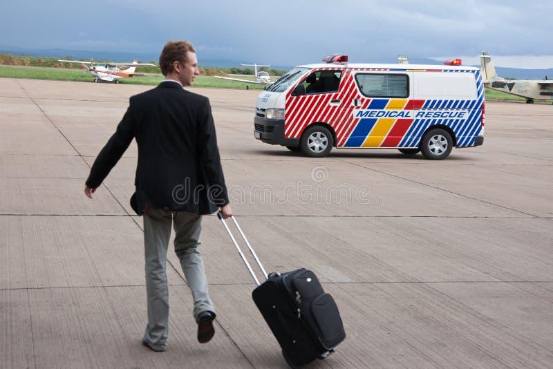 Sauvetage médical d'aéroport image libre de droits