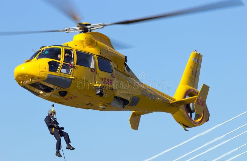 Sauvetage par hélicoptère photos stock