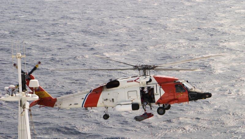 Sauvetage par hélicoptère image stock