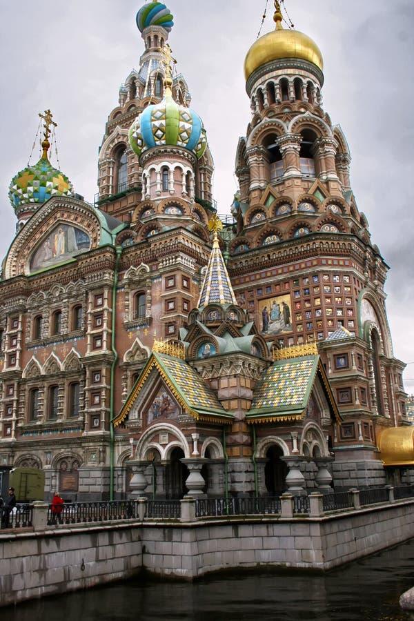 Sauveur sur le sang renvers? dans le St Petersbourg images stock