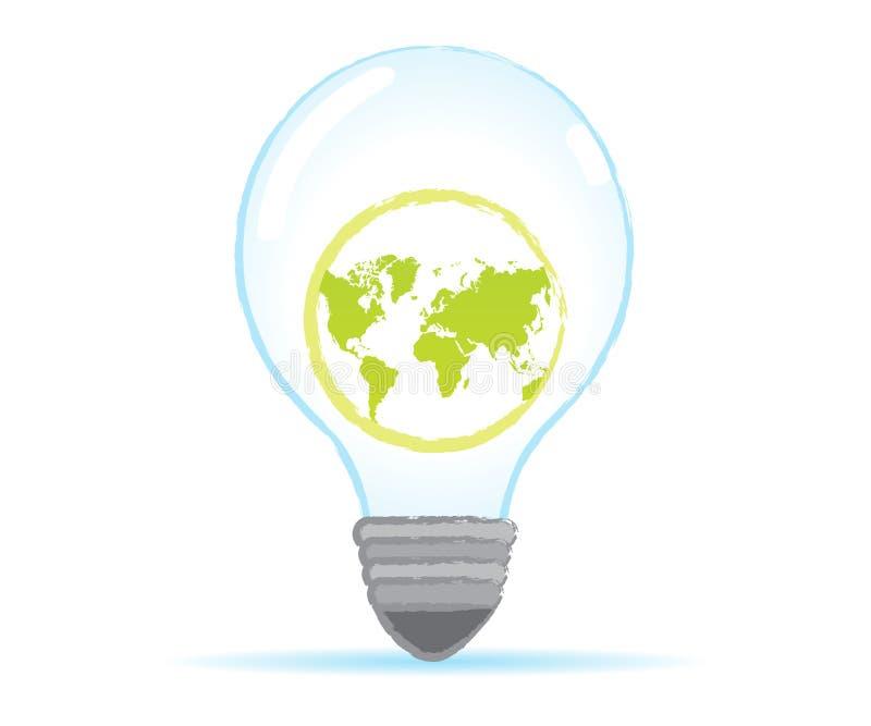 Sauvez l'ampoule du monde illustration libre de droits