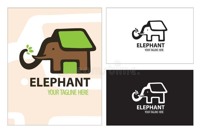Sauvez l'animal d'arbre de maison d'éléphant photos libres de droits