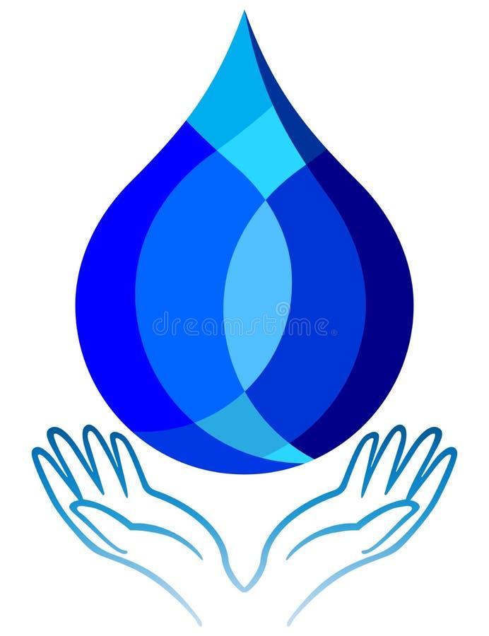 Sauvez l'eau illustration de vecteur
