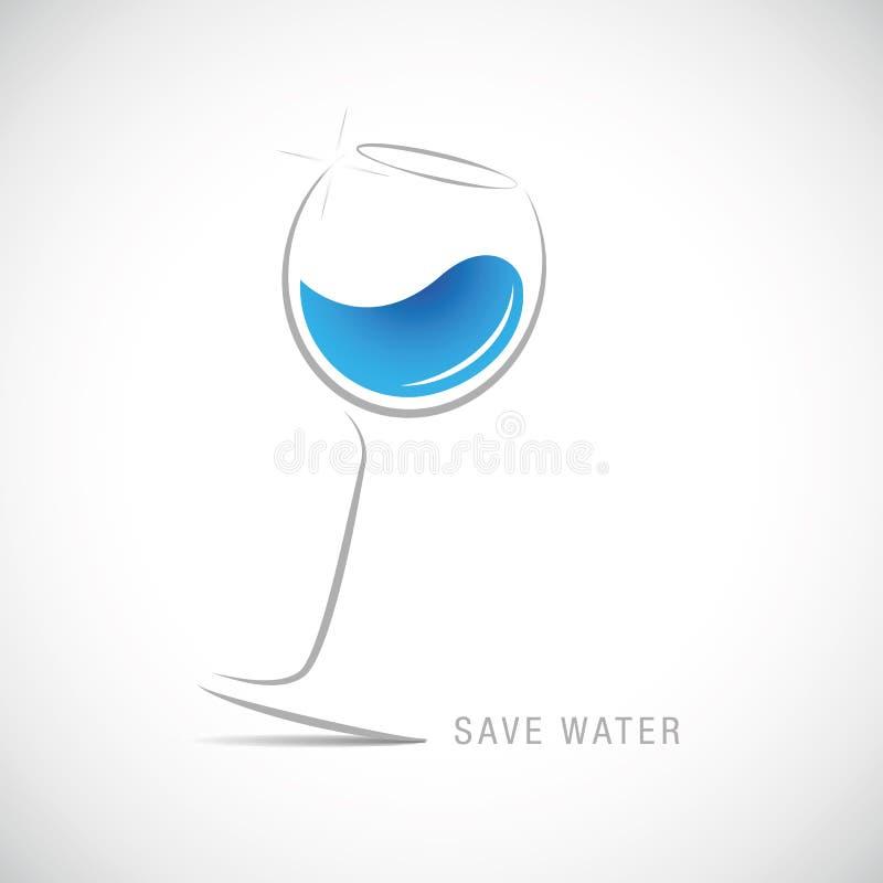 Sauvez l'eau douce en verre illustration de vecteur