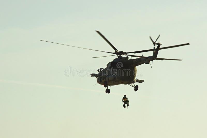 Sauvez l'hélicoptère images stock