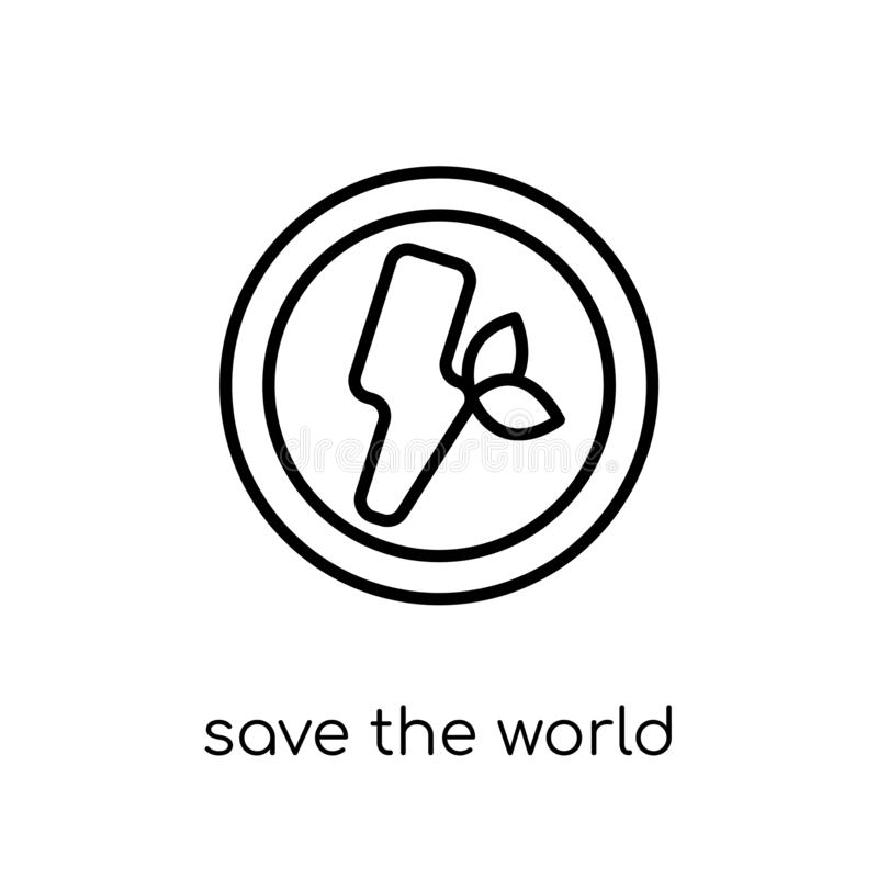 Sauvez l'icône du monde  illustration de vecteur