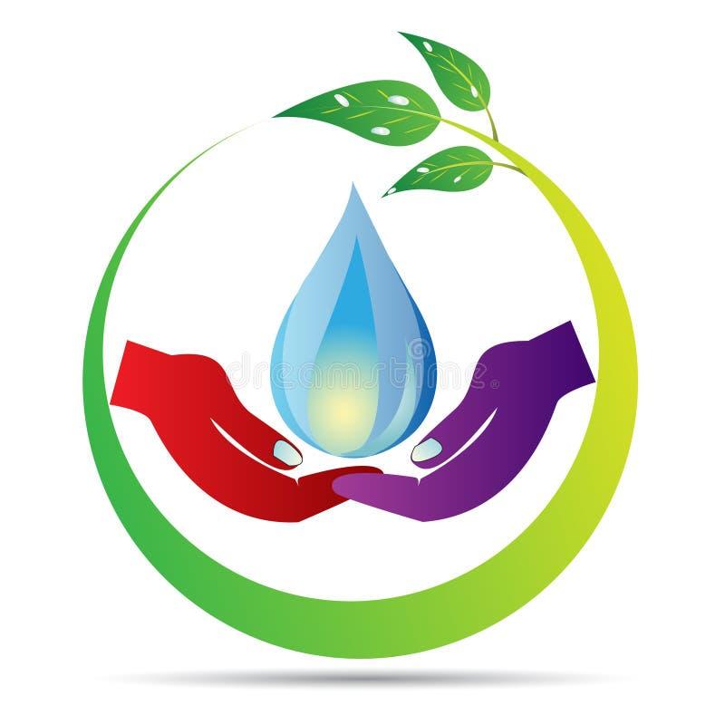 Sauvez la baisse de l'eau illustration de vecteur