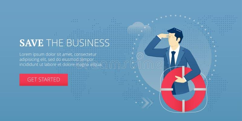 Sauvez la bannière de Web d'affaires illustration de vecteur