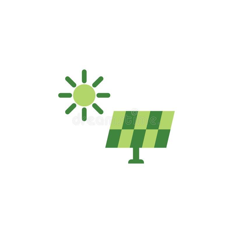 Sauvez le monde, icône colorée de panneau solaire ?l?ments des ?conomies l'ic?ne d'illustration de la terre Des signes et les sym illustration libre de droits