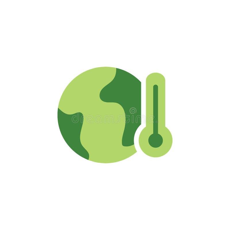 Sauvez le monde, icône colorée de réchauffement global ?l?ments des ?conomies l'ic?ne d'illustration de la terre Des signes et le illustration stock