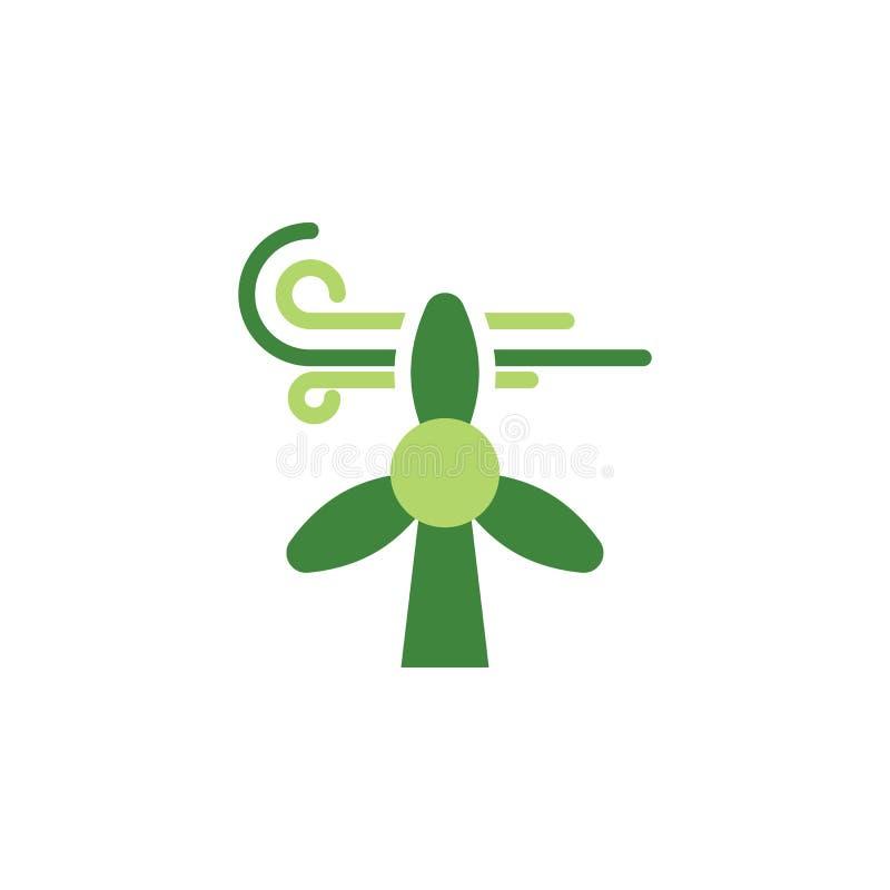 Sauvez le monde, icône colorée de turbine de vent ?l?ments des ?conomies l'ic?ne d'illustration de la terre Des signes et les sym illustration stock