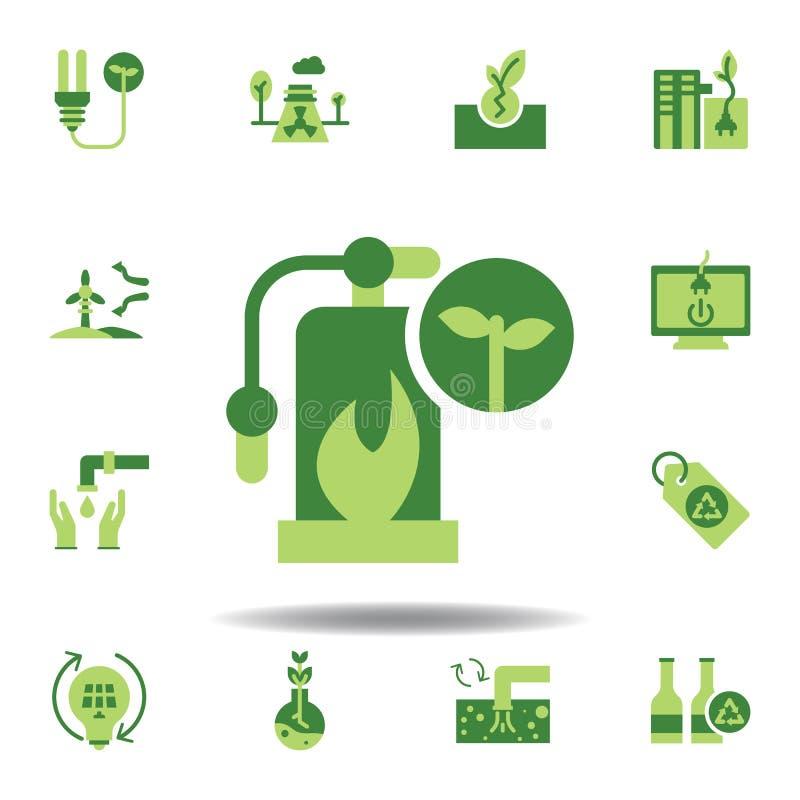 sauvez le monde, icône couleur urgence Éléments de l'icône d'illustration de l'enregistrement de la terre Les signes et symboles  illustration stock
