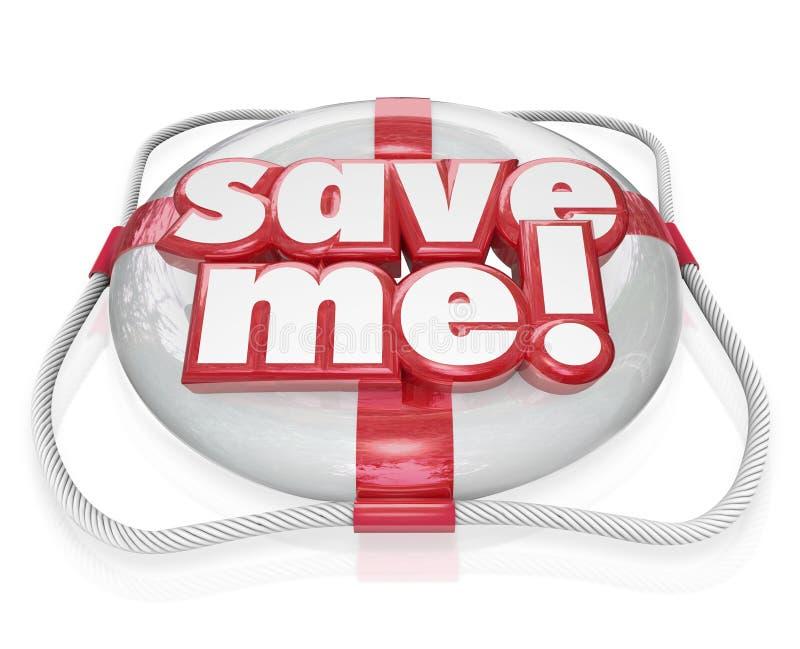 Sauvez-moi aide de délivrance des mots SOS de conservateur de vie illustration libre de droits