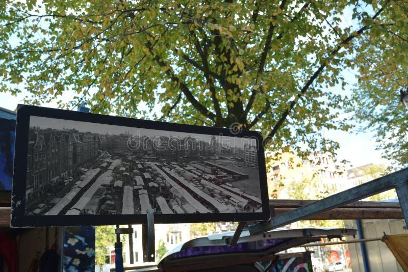 Sauvez-vous le marché, Amsterdam, Pays-Bas images stock