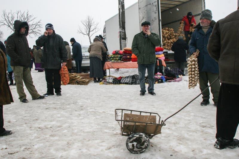 Sauvez-vous le marché de l'hiver photo libre de droits