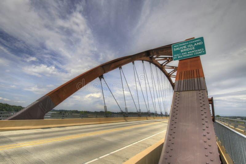 sauvie острова 3 мостов стоковые фотографии rf