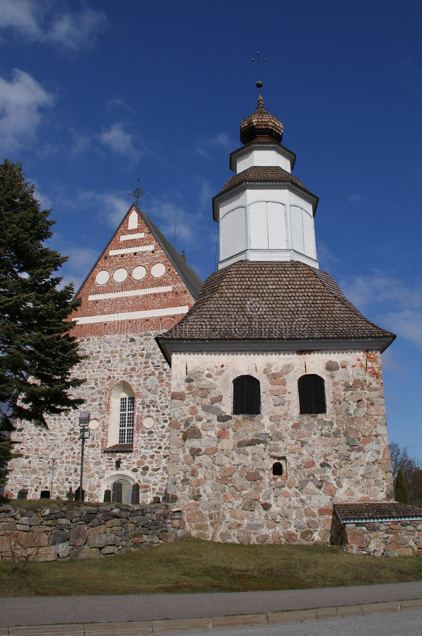 Sauvo Church and Belltower, Finland royalty free stock photography