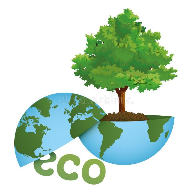 Sauvons la planète ! Un monde vert sur un concept écologique photo libre de droits