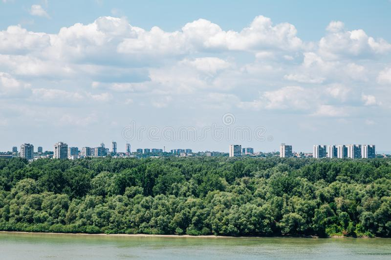 Sava river and cityscape in Belgrade, Serbia. Europe stock image