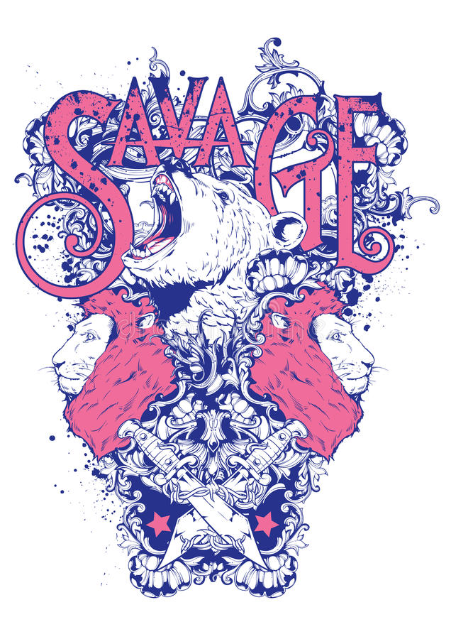 Download Savage spirits stock vector. Illustration of emblem, nose - 30635906
