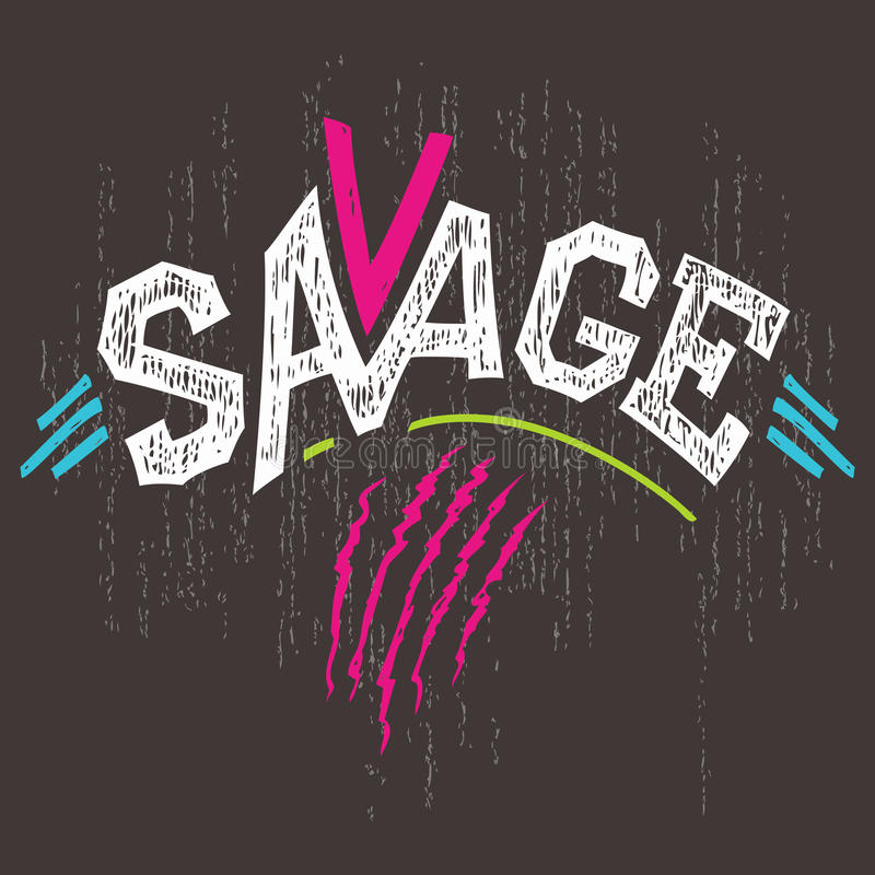 Free Savage T-shirt Graphics Stock Image - 50463061