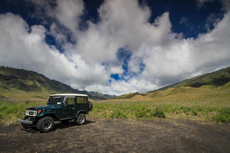 Savana. View at Bromo National Park, East Java Indonesia royalty free stock images