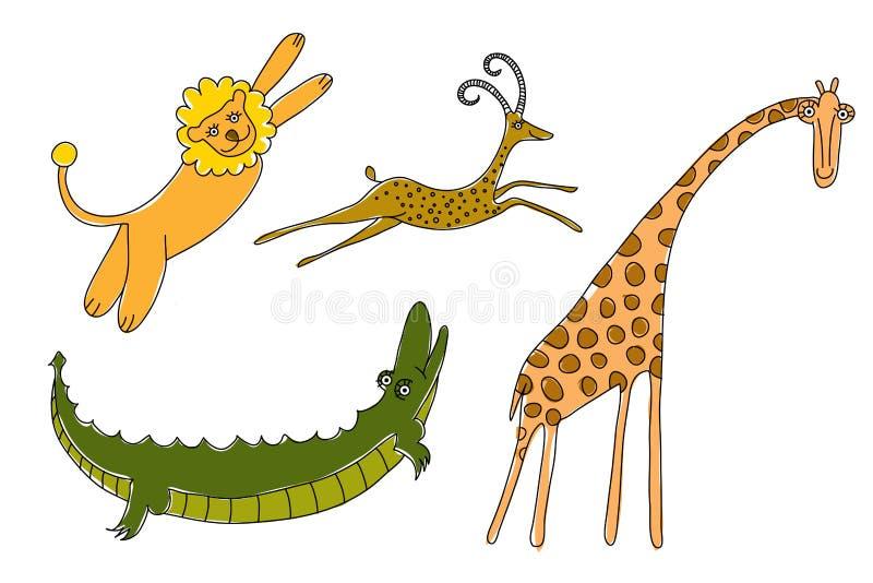 Savanna animals for children royalty free stock images