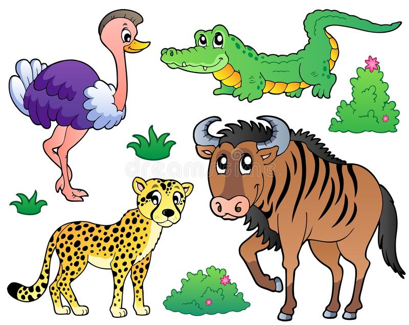 Savannah animals collection 2. Vector illustration stock illustration