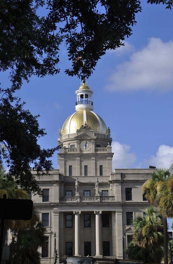 Savannah, August 7th:Cityhall Building from Savannah in Georgia USA royalty free stock image