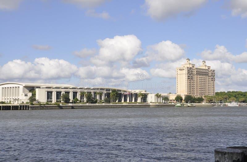 Savannah,August 8th:International Trade & Convention Center from Savannah in Georgia USA stock photo