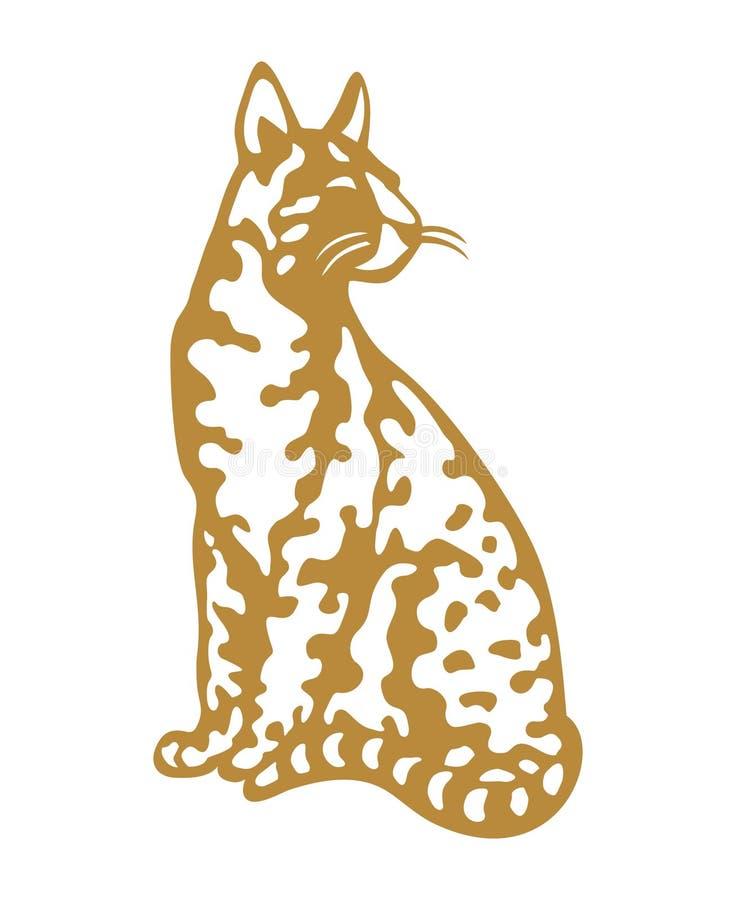 Savannah Cat-goud royalty-vrije stock afbeeldingen