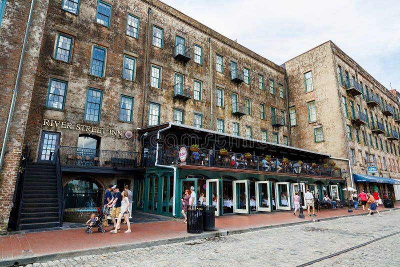 Savannah Cityscape fotografia de stock